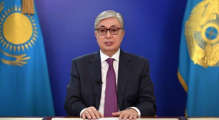 Появилось видео обращения Токаева к казахстанцам