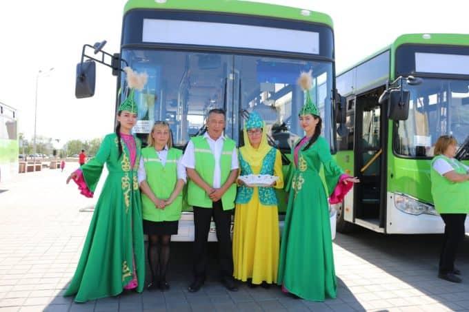 Автопарк Семея пополнился новыми 60 автобусами